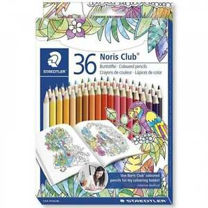 Image Is Loading STAEDTLER Noris Club Coloured Pencils Set Of 36