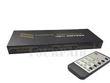 4x4 HDMI True Matrix Switch Splitter Selector Remote Control 3D 1080P 4-in 4-out