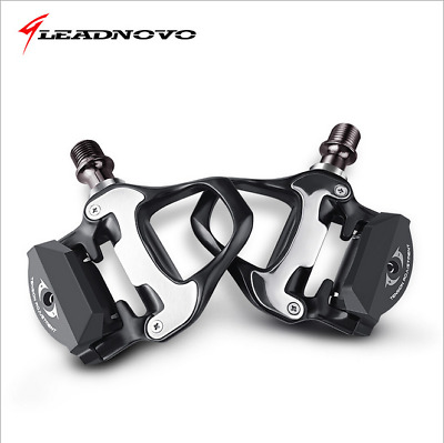 LEADNOVO Road Bike Self-lock Pedals with SPD-SL Cleats CR-MO Steel Axle Pedals