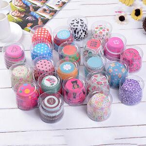 100-PCs-cupcake-liner-moules-a-patisserie-moule-papier-Muffin-cas-gateau-F