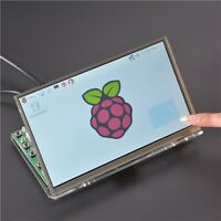 Raspberry Pi 7 Inch Hdmi Hd 1024 600 Touch Screen Module Kit With Housing Brac