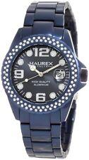 Haurex Italy Women's XK374DB3 Ink Stones Blue Aluminum Crystal Date Watch