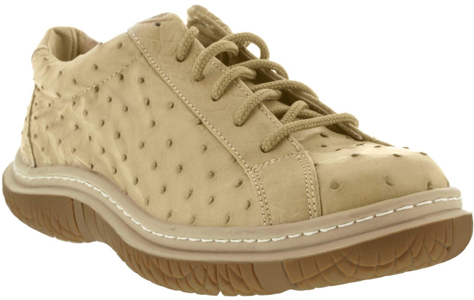 Uomo El Presidente Sand Genuine Skin Ostrich Skin Genuine Casual Genuine Shoes Cowboy Wear b0c677