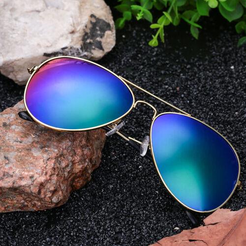 4C67 B777 Unisex Lady Colorful Plating Film UV400 Glasses Sunglasses Frog Mirror