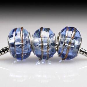 5pcs-Murano-Glass-European-Spacer-Beads-Lampwork-Fit-Bracelet-Chain-LB0093-FB