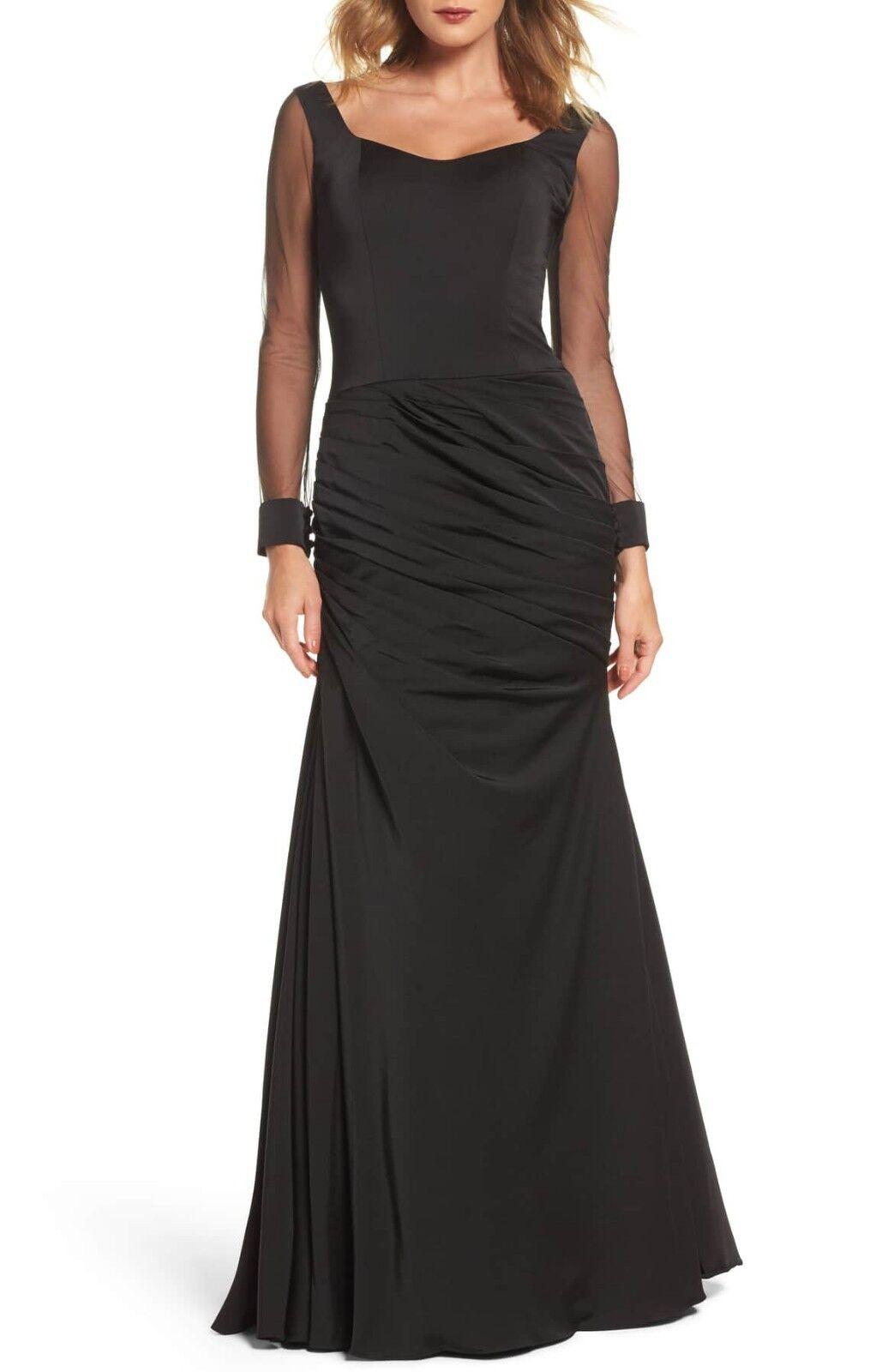 La Femme Sheer Sleeve Gown (size 12)