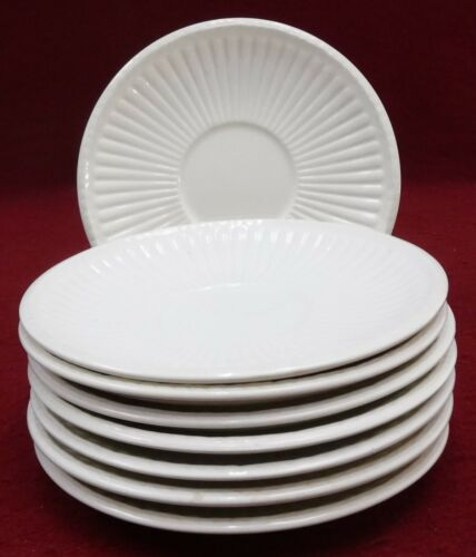 WEDGWOOD china EDME pattern SAUCER 5-3/4 set of EIGHT (8)