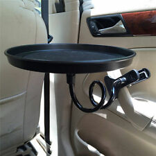 Auto Car Swivel Mount Holder Travel Drink Cup Coffee Table Stand Food Tray Black