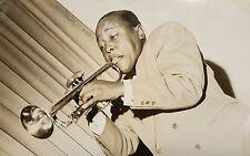 VINTAGE AFRICAN AMERICAN BLACK JAZZ ROY ELDRIDGE 1940s PHOTO LAST ORIGIN CHICAGO