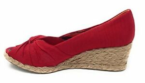 Hush Textile Sandals 9 Womens Pink Puppies Wedge Coral FwfrFYqO