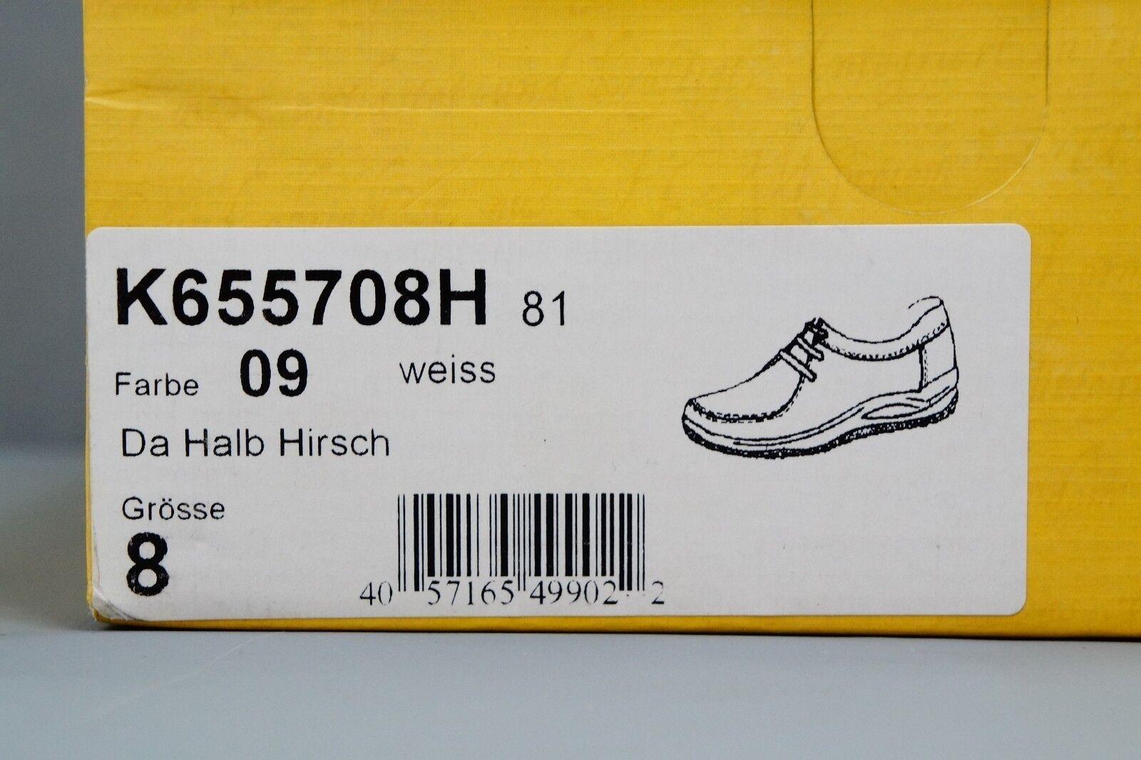 Ströber Herren Halbschuh Halbschuh Halbschuh Schnür Schuhe Da Halb Hirsch weiß Gr. 40,5 NEU  354    f5a1b1