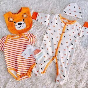 5pcs-Baby-Newborn-Clothes-Pure-Cotton-Jumpsuit-Bodysuit-Bib-Set-Gift-Infant-0-3M