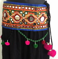 Banjara kuchi tassel Belly Dancing textile costume waist belt hip scarf women
