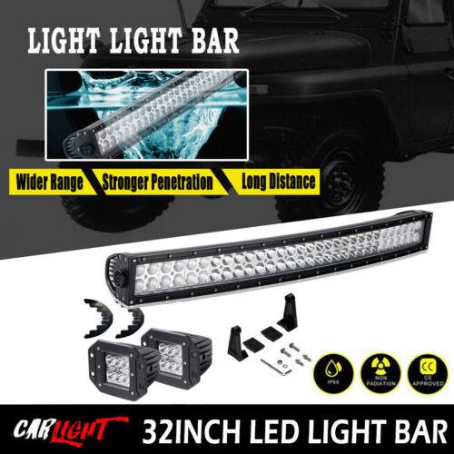 30 32 INCH Curved LED Light Bar RZR XP 1000 RZR S 900 ATV UTV Ford F250 F150