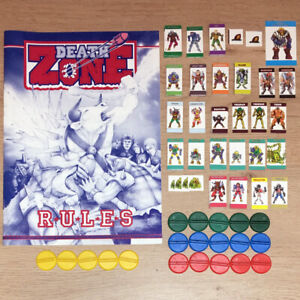 Blood-Bowl-1st-Edition-Death-Zone-Games-Workshop-1987-No-Box-or-Team-Roster-Pad