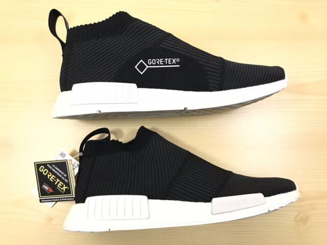 buy popular 5dbca 3ff45 New Adidas NMD CS1 Primeknit Gore Tex Black White Size 11 BY9405