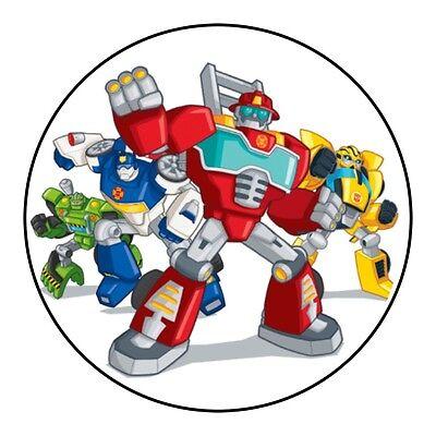 Fine Transformers Rescue Bots Birthday Cake Icing Topper Decoration Funny Birthday Cards Online Alyptdamsfinfo