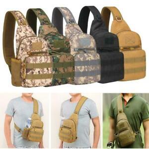 Mens Molle Tactical Backpack Sling Chest Pack Shoulder Bag Outdoor Hiking Travel