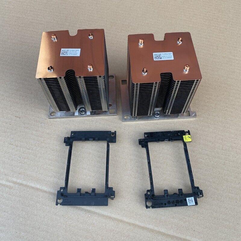 2x Dell PowerEdge T640 Heat Sink 0489KP 489KP and 2x CPU Holder 0XPDVP XPDVP