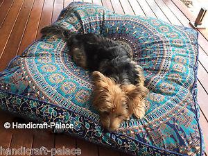 Extra-Large-Elephant-Mandala-Floor-Cushions-Dog-bed-Square-Pillow-Cover-Indian