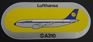 Promotional Stickers Lufthansa Airbus Industry A310 Aircraft Flugggesellschaft