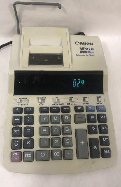 Canon MP27D 12 Digit 2 Color Calculator w/ Calendar & Clock