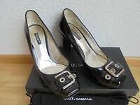 Dolce&Gabbana Lackleder Pumps NP 450€ TOP D&G Schuhe High Heels Pumps 38 38,5 39