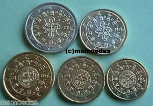 Portugal Alle 5 Euro Münzen 2003 10 Cent 20 Cent 50 Cent 1 Euro