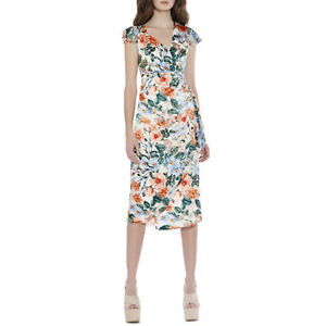 c86010028 Image is loading 375-ALICE-OLIVIA-Garnet-Floral-Fields-Ruched-Wrap-