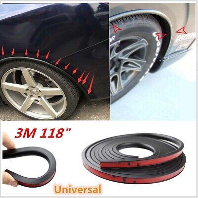 Black 118/'/' Car Fender Flare Extension Wheel Eyebrow Moulding Trim Protector Lip