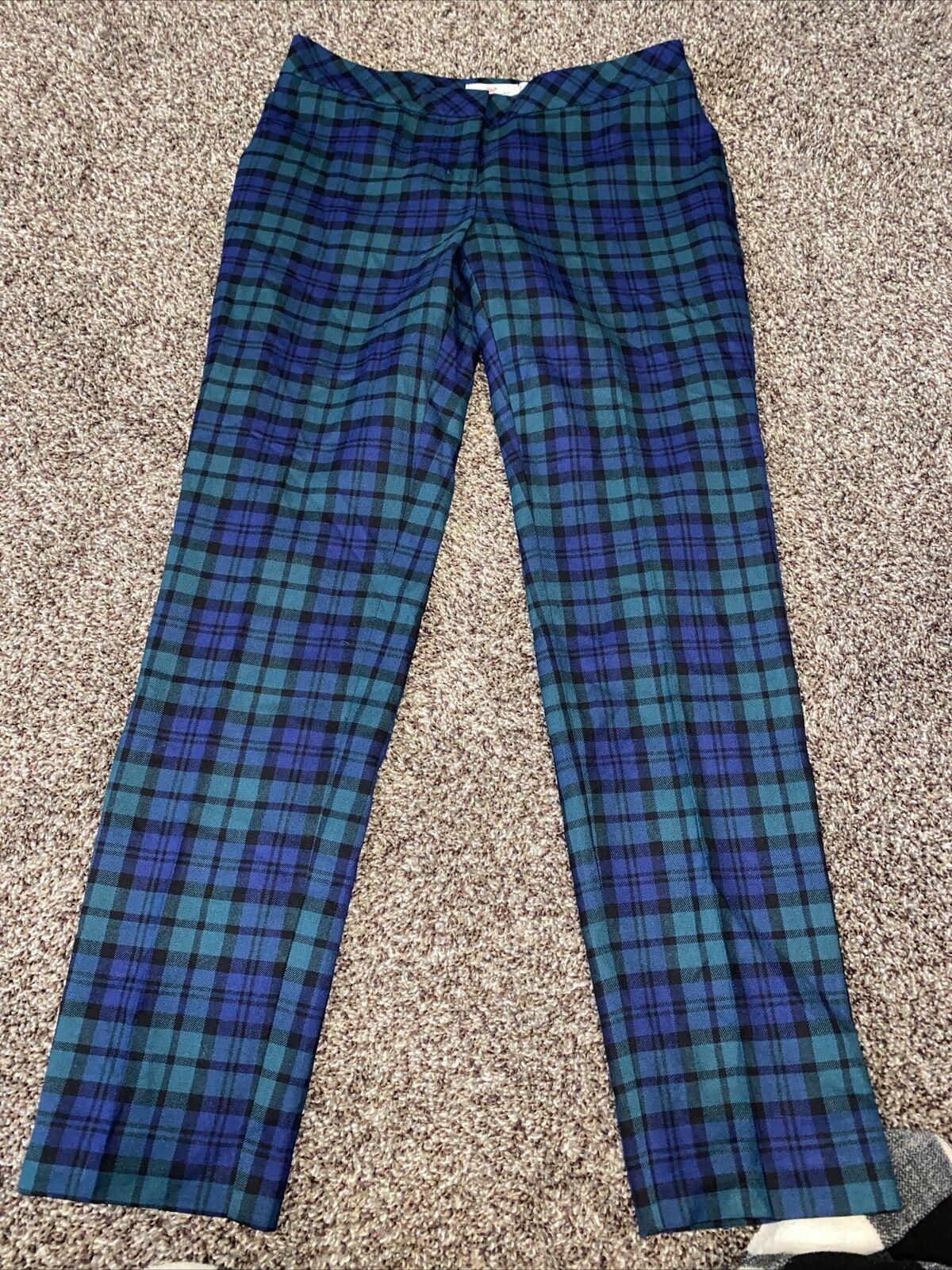 Womens Vineyard Vines Plaid Pants Size 2 Dress Pa… - image 3
