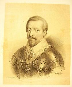 LITHOGRAPHIE de J-B MAUZAISSE François Félix Des Balbes de Berton Duc de Crillon - France - LITHOGRAPHIE de J-B MAUZAISSE François Félix Des Balbes de Berton Duc de Crillon - France