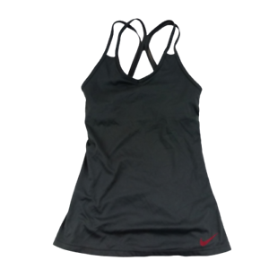 Nike-Women-Extra-Small-Tank-Top-Gray-Racer-Back-Pullover-Activewear-Top-001M