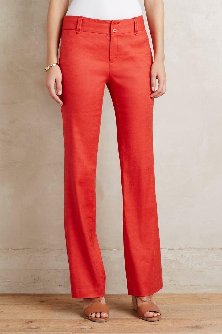 NWT Anthropologie Benton Trousers, by Elevenses - Red size 6