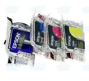4-Genuine-Epson-T0321-T0422-T0424-T032-Black-T042-Color-Ink-CX5200-CX5400-C82