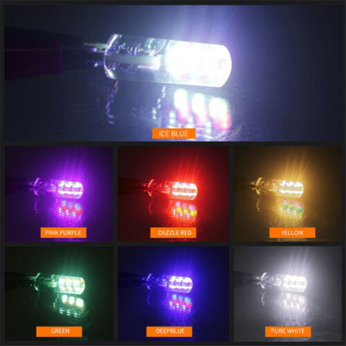 T10 LED  5050 W5W 6 SMD Remote Control RGB LED Car Dome Reading Light Lamp Bulb