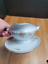thumbnail 6 - Rosenthal Modell Gravy Boat with Attached Underplate R1817 White Pink Flowers