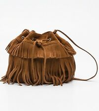 "NEUF ce sac seau MINI INDIE  "" GÉRARD DAREL"" en cuir suédé ,couleur camel"