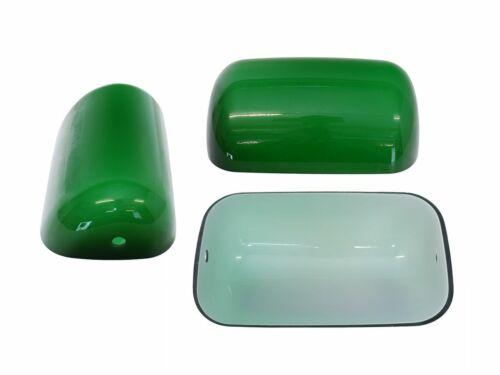 9372 Lampenschirm Bankerslampe Tischlampe Ersatz-Glasschirm in grün B 22,5 cm