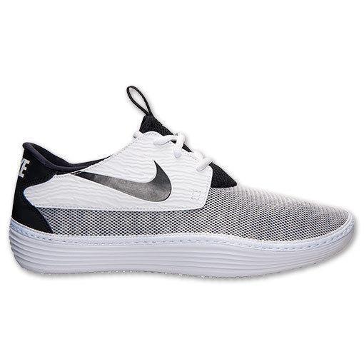 Nike HOMBRE SOLAR Suave Suave SOLAR MOCASIN BLANCO/Zapatillas Negras 555301 100 2c94ea