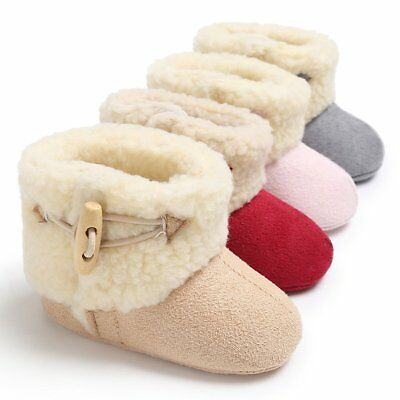Baby Boys Girls Toddler Booties Slippers Infant Soft Anti Slip Snow Boots Shoes