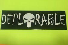 Deplorable Punisher Skull Sticker Window Bumper Decal Support Donald Trump 3x10