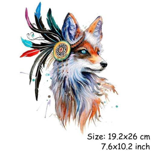 Colorful Patches T-shirt Heat Transfer Stickers Iron On Patch Washable Pyrograph