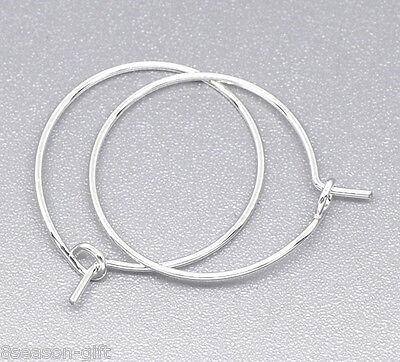 200 SP Wine Glass Charm Rings /Earring Hoops 25x20mm