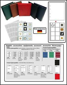 Look-OP-312455-G-Album-pour-la-Monnaie-Optus-Etuis-Numismatiques-Vert-5x-Etuis