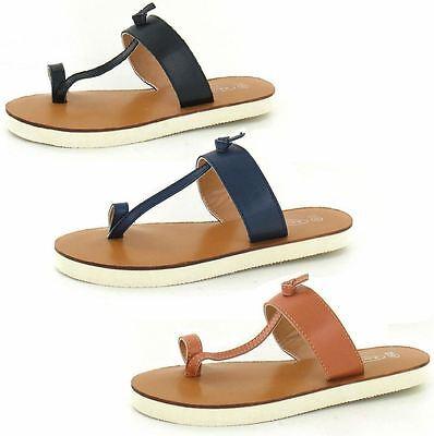 Mujer ANILLO PARA Dedo Zapatos Sin Talón Disponible en Marrón & Negro Estilo -