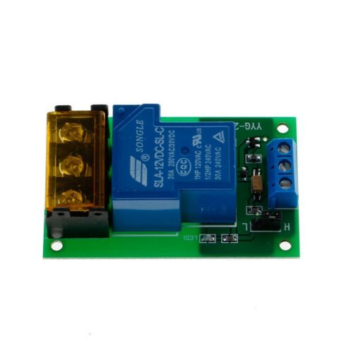 1 Channel 12V 30A Relay Board Module Optocoupler Isolation High//Low Trigger