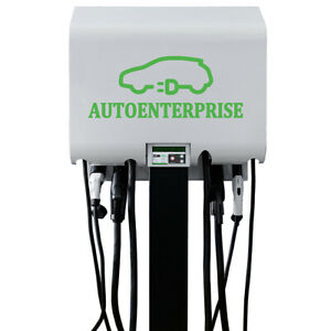 AC/DC ev fast charging station 60kW electric vehicle charger CHAdeMO CCS Type1/2