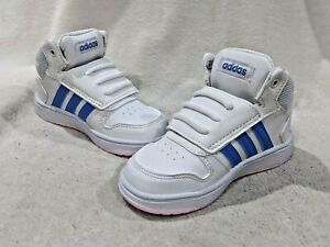 Details about adidas Hoops Mid 2.0 I White/Blue/Pink Toddler Girl's Sneakers - Size 8K NWB