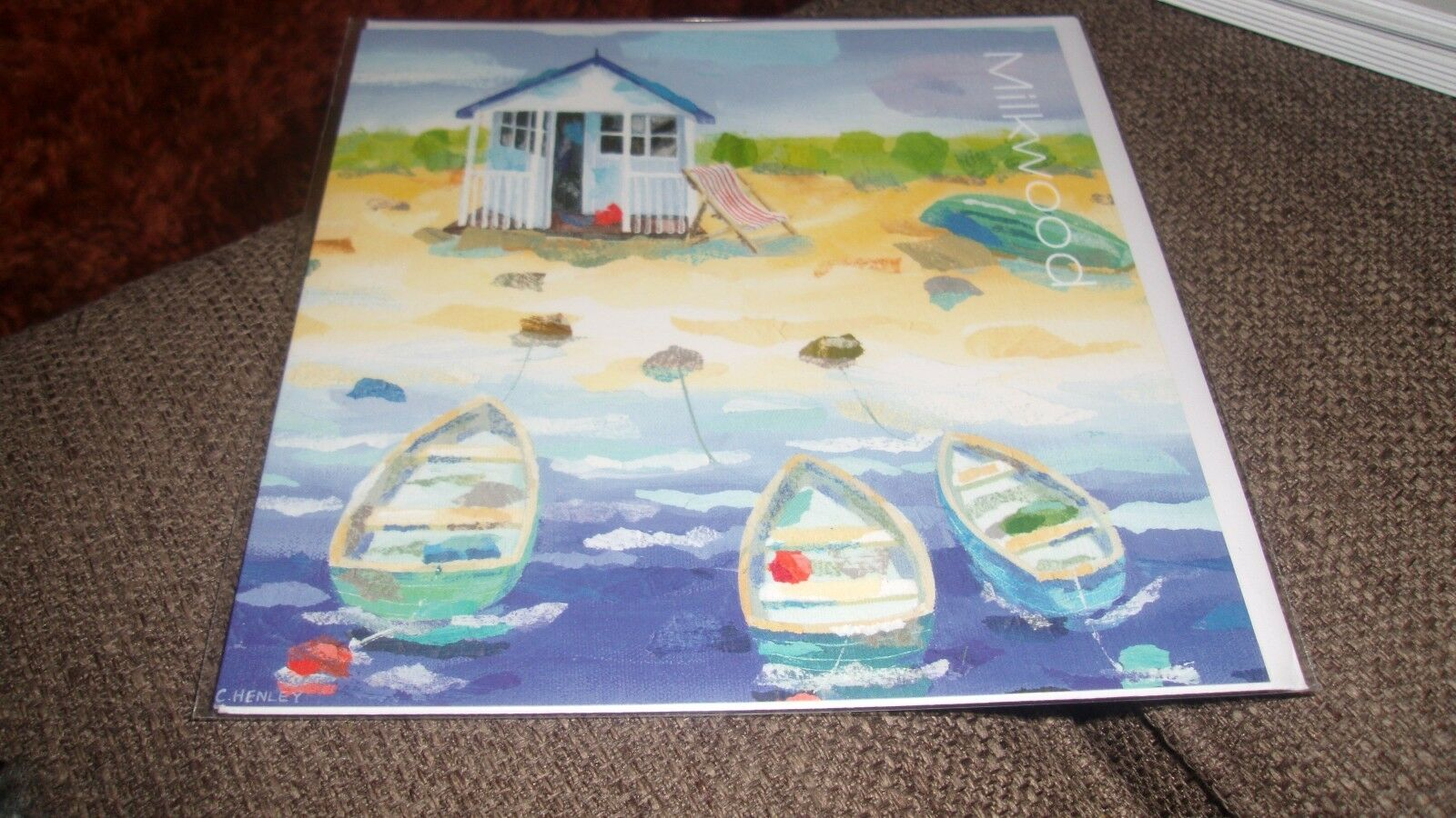 Three Little Boats Claire Henley Milkwood Greeting Card Blank All